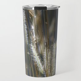 Blowing in the wind. Travel Mug