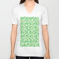 vegetable V-neck T-shirts featuring Vegetable salad by Tony Vazquez
