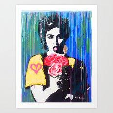 Whos that girl Art Print