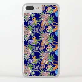 Tiger Print Clear iPhone Case