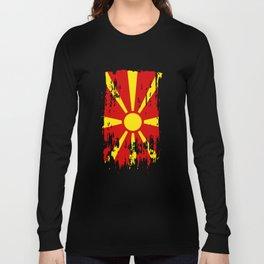 MK MKD Macedonia Flag Long Sleeve T-shirt