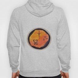 Orange Ink Trio Design Hoody