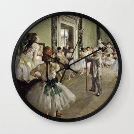 Edgar Degas - The Ballet Class Wall Clock