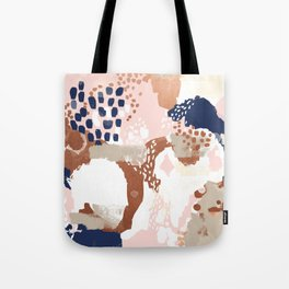 Sonia - rose gold navy copper modern abstract rosegold trendy pattern cell phone accessories Tote Bag