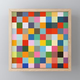 Haumea - Abstract Colorful Pixel Patchwork Art Framed Mini Art Print