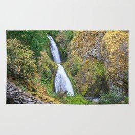 Wahkeena Falls in the Columbia River Gorge Rug