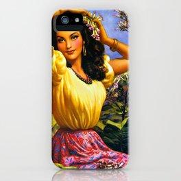 CALENDAR GIRL JESUS HELGUERA iPhone Case