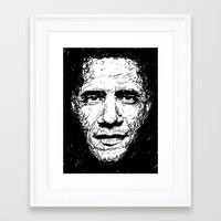 obama Framed Art Prints featuring Obama by Smyf