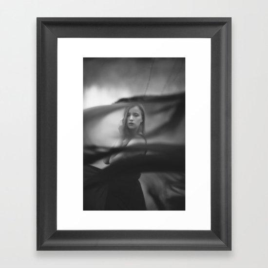 Black veil Framed Art Print