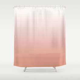 Just Peachy Gradient Shower Curtain