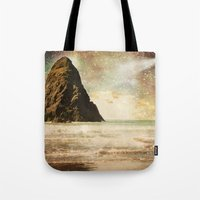 interstellar Tote Bags featuring Interstellar by Jenndalyn