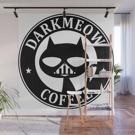 Darkmeow coffee Wall Mural