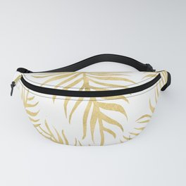 Fern Pattern Gold Fanny Pack