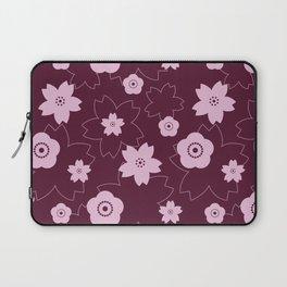 Sakura blossom - burgundy Laptop Sleeve