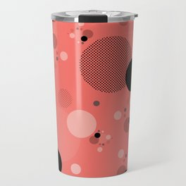 Coral Dots Travel Mug