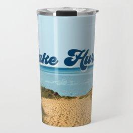 Lake Huron Retro Travel Mug