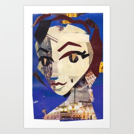 Eartha Kitt #PrideMonth Collage Portrait Art Print