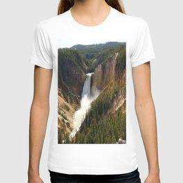 Majestic Upper Falls - Yellowstone Valley T-shirt