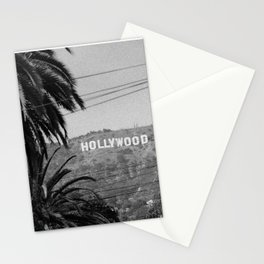 Hollywood Sign - Black and White Stationery Cards