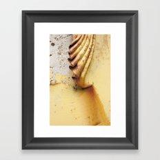 Yellow Push Framed Art Print