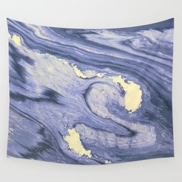 Lavender Marble With Cream Swirls Wall Tapestry