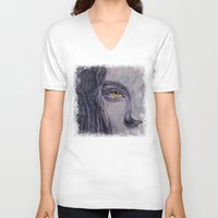 siren V-neck T-shirts featuring Siren by Michael Creese