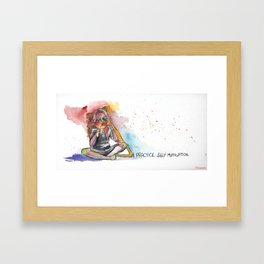 I practice self mutilation Framed Art Print