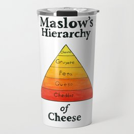 Maslow's Hierarchy of Cheese Travel Mug