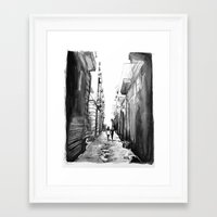 barcelona Framed Art Prints featuring Barcelona by Rebekah Robinson
