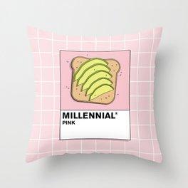 Millenial Pink Throw Pillow