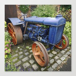 Blue Vintage Fordson Tractor Canvas Print