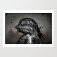 grumpy Art Prints featuring Grumpy by IOSQ