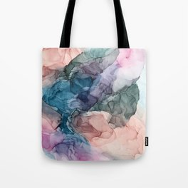 Heavenly Pastels 2: Original Abstract Ink Painting Tote Bag