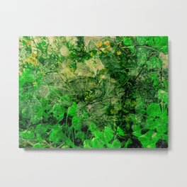 The adventure of green - 3 - Pop Metal Print