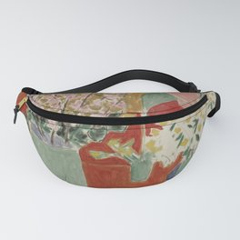 Plum Blossoms, Ochre Background by Henri Matisse Fanny Pack