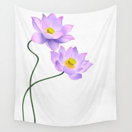 Thamarai, Yellow Flower, Floral Pattern, Yellow Blossom Wall Tapestry