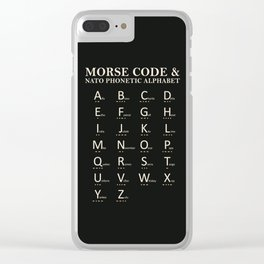 Morse Code And Phonetic Alphabet Clear iPhone Case