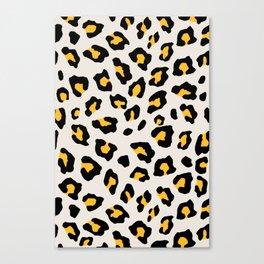 Leopard Print - Mustard Yellow Canvas Print