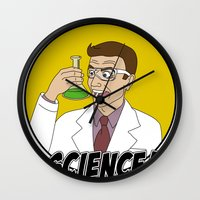 science Wall Clocks featuring Science! by Great Opportunitees
