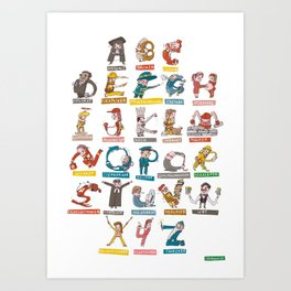 JOB-ABC Art Print
