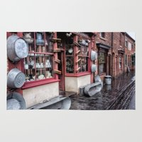 victorian Area & Throw Rugs featuring Victorian Stores by Adrian Evans