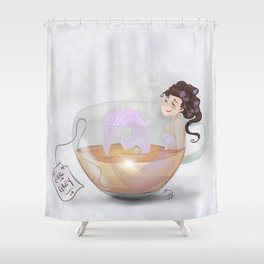 Earl Grey Mermie Shower Curtain