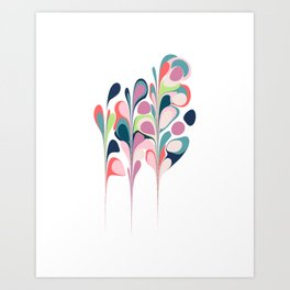 Colorful Abstract Floral Design Art Print
