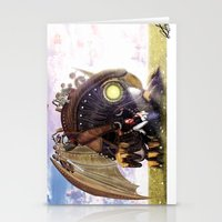 bioshock infinite Stationery Cards featuring Bioshock Infinite: The SongBird by GIOdesign
