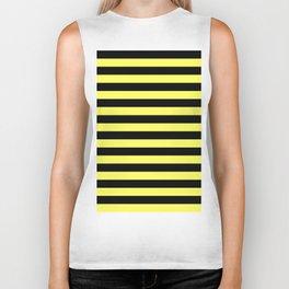 Stripes (Black & Yellow Pattern) Biker Tank