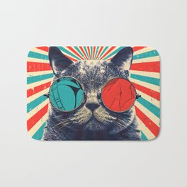 The Spectacled Cat Bath Mat