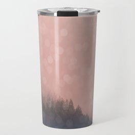 Frosty Morn, Forest Landscape Sparkles Travel Mug