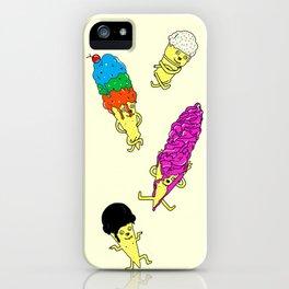 Dancing ice-cream iPhone Case