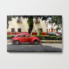 Red Bocho 3 Metal Print