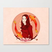 pisces Canvas Prints featuring Pisces by Vanesa Abati